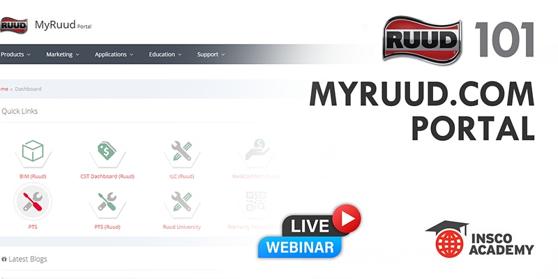 MyRuud.com Portal Training